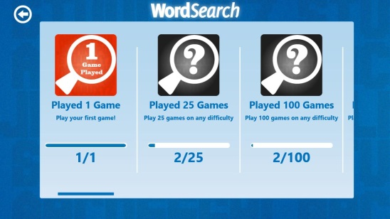 Word Search - Achivements