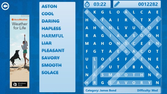 Word Search - Gameplay