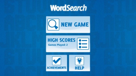 Word Search - Main Screen