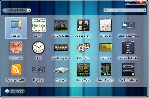 add gadgets box