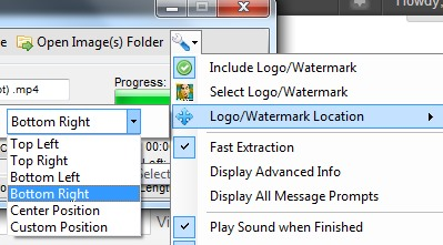 csSimple Video To Image Extraction Tool- add watermark