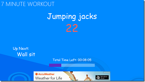 exercise started