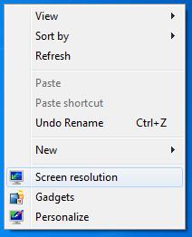 right click context menu