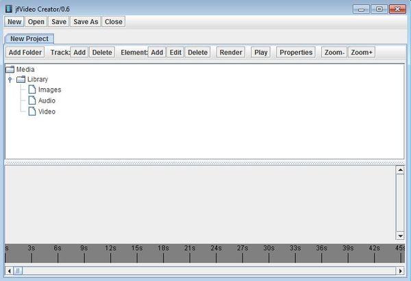 jfVideo Creator default window