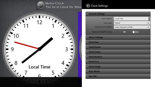new clock settings