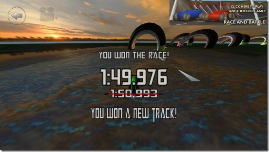 3D Boat Race - race result