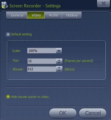 Ainishare Free Screen Recorder- change video settings