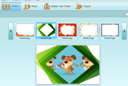 Ainishare Slideshow Video Maker- select a theme