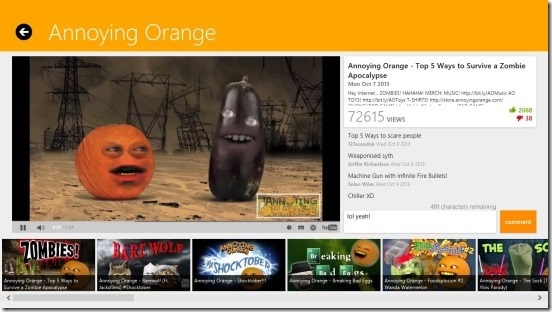 AnnoyingOrange - comment, like, dislike