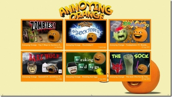 AnnoyingOrange - main screen