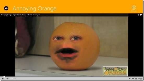 AnnoyingOrange - watching video
