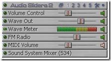 Audio Sliders