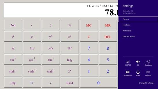 Calculator X8 - Windows 95 theme and setting charm