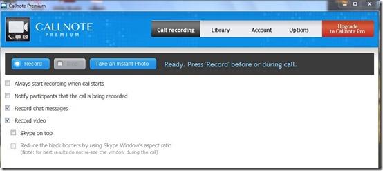 Callnote premium-Skype call recorder-interface