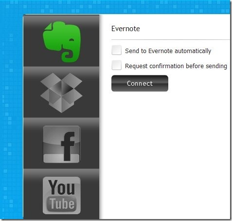 Callnote-skype call recorder-account menu