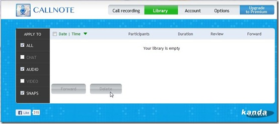 Callnote-skype call recorder-library