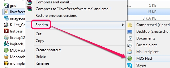 DigitalVolcano Hash Tool- send a file to this hash tool using right-click menu