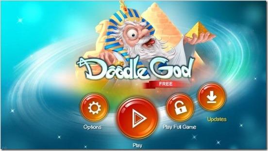 Doodle God - main screen