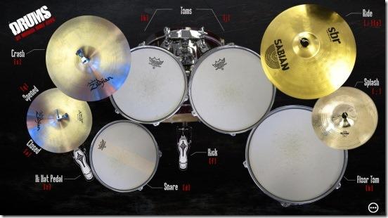 Drums - keyboard keys