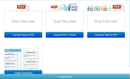 Easy PDF Cloud-online pdf converter- home page