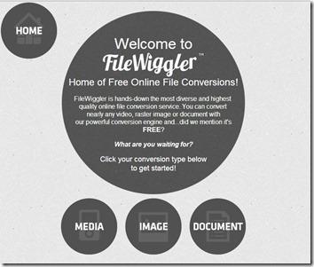 File wiggler-online file converter-home page