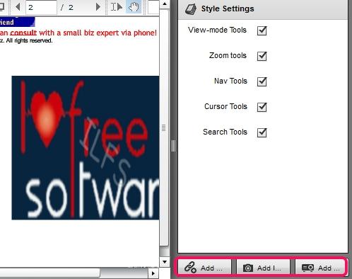 FlexPaper Desktop Publisher- add image or video link to pdf