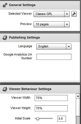 FlexPaper Desktop Publisher- adjust settings