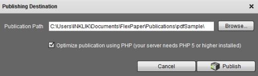 FlexPaper Desktop Publisher- publish pdf document