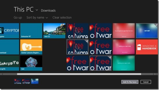 Flip Saver - adding images