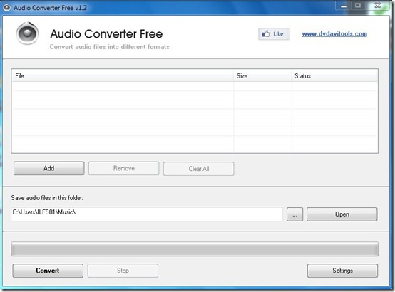 Free Adio Converter-audio converter-interface