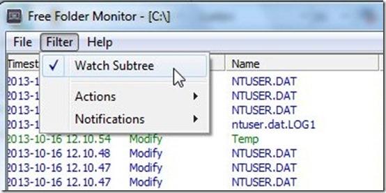 Free Folder Monitor-monitoring software-filter files