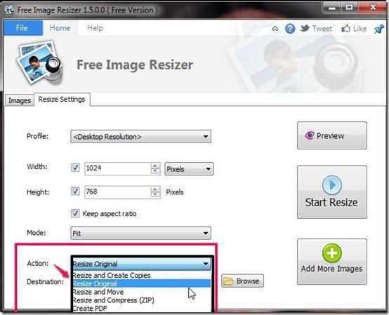 Free Image Resizer-image resizer-action listpg