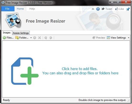 Free Image Resizer-image resizer-interface
