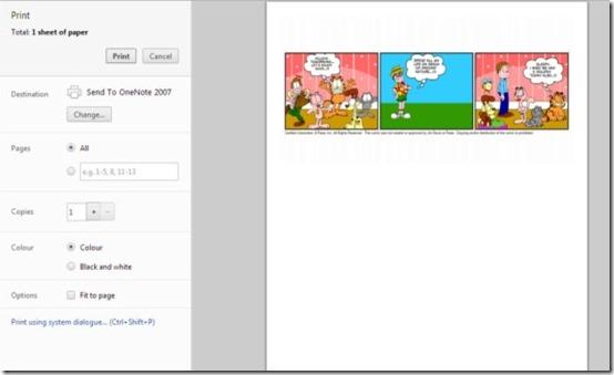 Garfield Comic Creator print