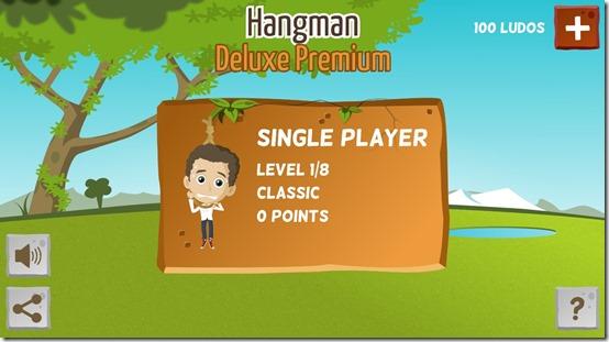 Hangman Deluxe Premium- Main Screen