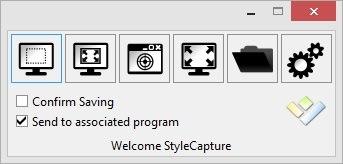 Hornil StyleCapture - Free Screen Capture Tool - Main Window