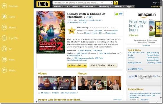 IMDb HD - Movies details