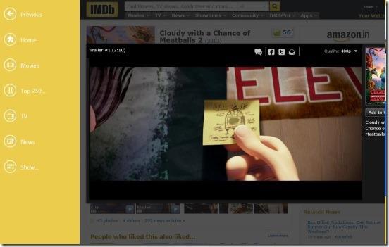 IMDb HD - Watching trailer