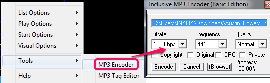 Inclusive Music Player- mp3 encoder