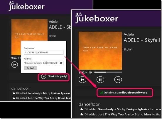 Jukeboxer - creating playlist url