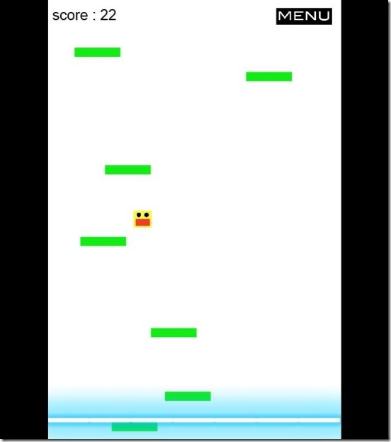 Jumping box - gameplay and score