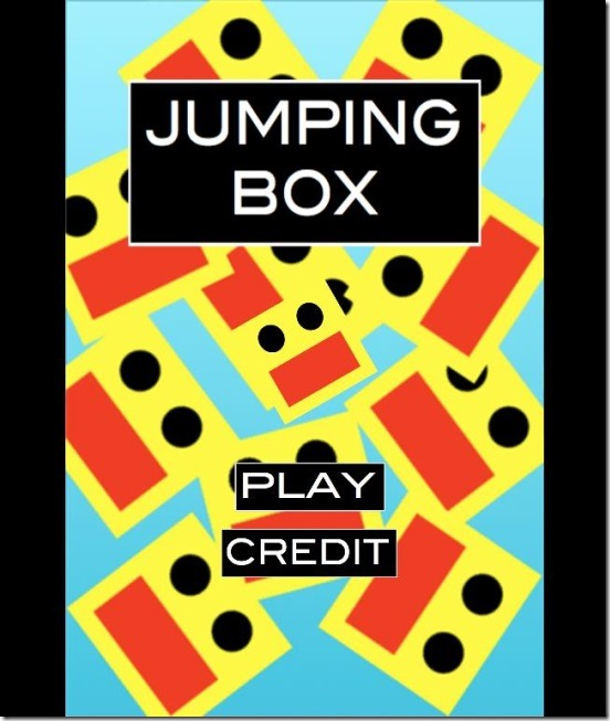 Jumping box - main screen