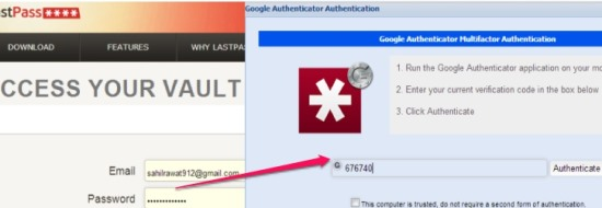 LastPass Two Factor Authentication