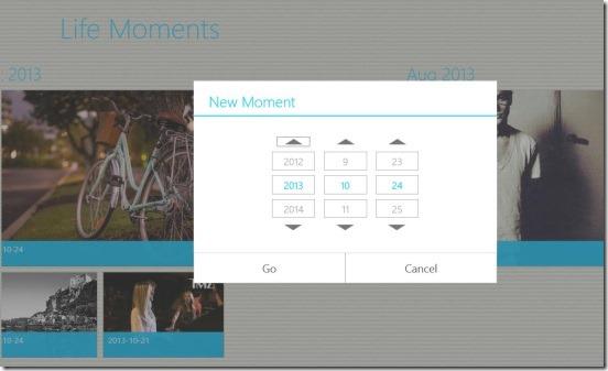 Life Moments - adding moment