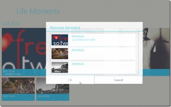 Life Moments - deleting moments