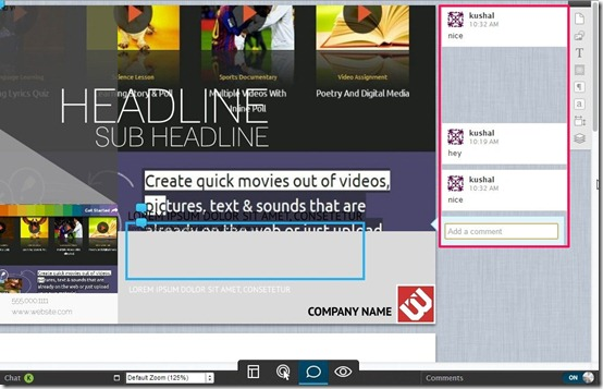 Lucidpress-digital publishing-comment mode