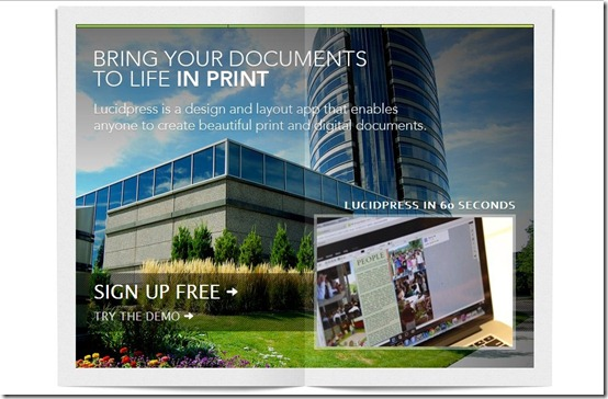 Lucidpress-digital publishing-home page