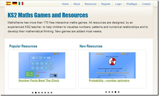 MAtHSFRAME-math games-home page