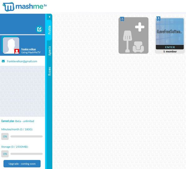 MashMe default window