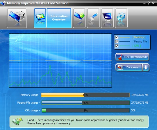Memory Improve Master Free Version- interface